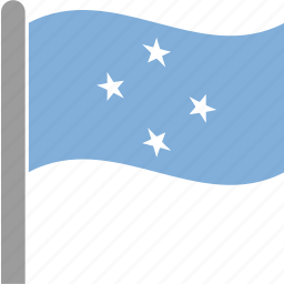 country, flag, micronesia, state, states, waving icon