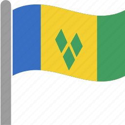 flag, grenadines, saint, saint vincent and the grenadines, vct, vincent icon