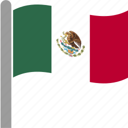 country, flag, mex, mexican, mexico, pole, waving icon