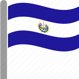 country, el salvador, flag, slv, waving icon