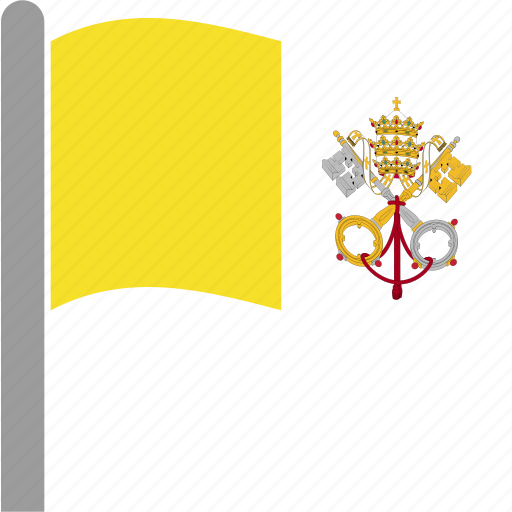 city, flag, holy, see, vat, vatican, waving icon