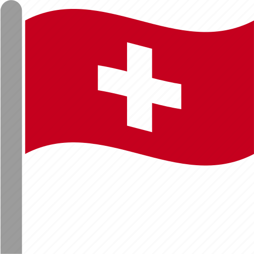 che, country, flag, pole, swiss, switzerland, waving icon