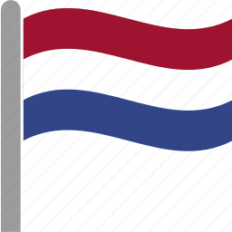 country, dutch, flag, holland, netherlands, pole, waving icon