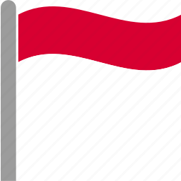 country, flag, idn, indonesia, indonesian, pole, waving icon