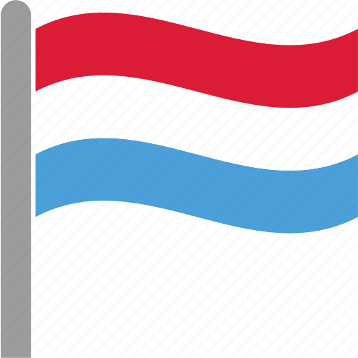 country, flag, lux, luxembourg, luxembourgish, pole, waving icon