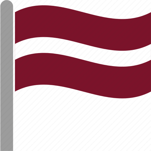 country, flag, latvia, latvian, lva, pole, waving icon