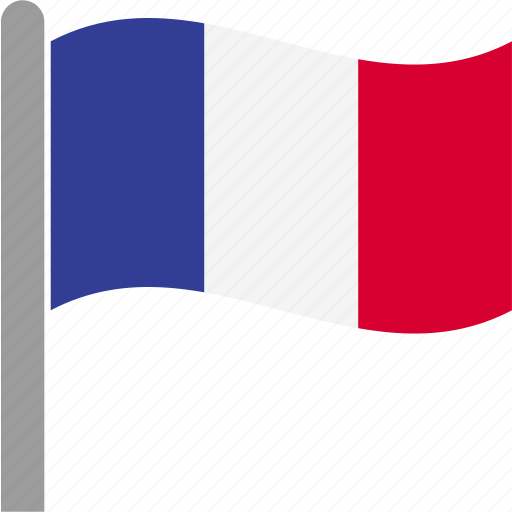 country, flag, fra, france, french, pole, waving icon