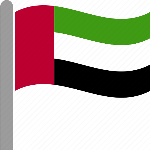 arab, country, emirates, flag, uae, united, waving icon