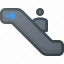 down, escalator icon