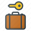 luggage, service icon