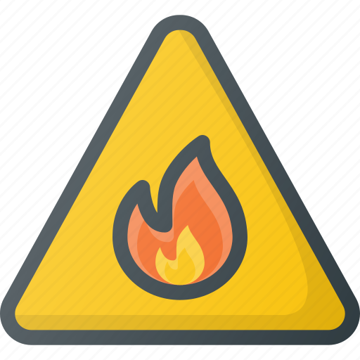 find, fire, risk, sign, wayfinding icon