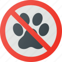 allowed, animals, find, no, sign, wayfinding icon