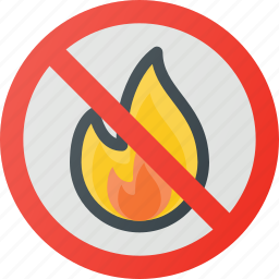 find, fire, no, sign, wayfinding icon