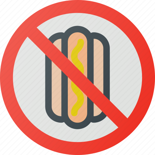 allowed, find, food, no, sign, wayfinding icon
