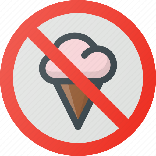 allowed, cream, find, food, ice, sign, wayfinding icon