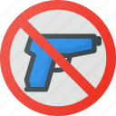 find, guns, no, sign, wayfinding