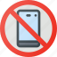 find, no, phone, sign, wayfinding icon