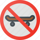 find, no, sign, skateboarding, wayfinding icon