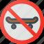 find, no, sign, skateboarding, wayfinding icon