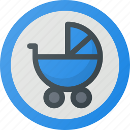 find, for, place, pram, sign, wayfinding icon