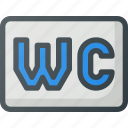 find, sign, wayfinding, wc icon