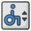 accessible, elevator, find, sign, wayfinding, wheelchair icon