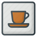 caffe, find, map, sign, wayfinding icon