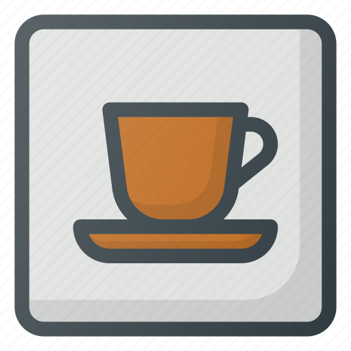 Caffe, find, map, sign, wayfinding icon - Download on Iconfinder