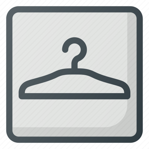 check, coat, find, map, sign, wayfinding icon