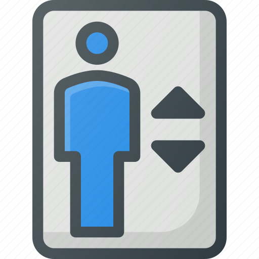 Elevator, find, map, sign, wayfinding icon - Download on Iconfinder
