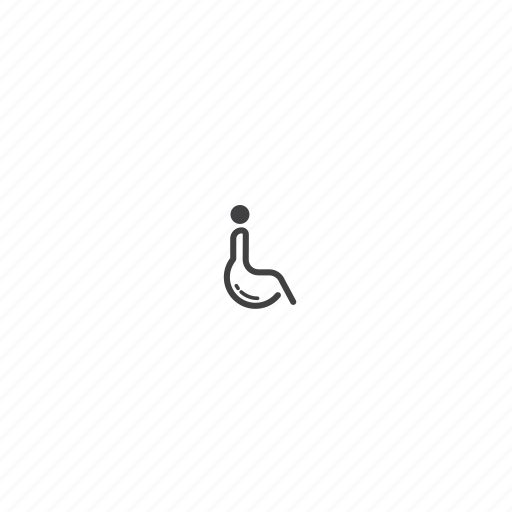 disability, toilet, wheel chair icon