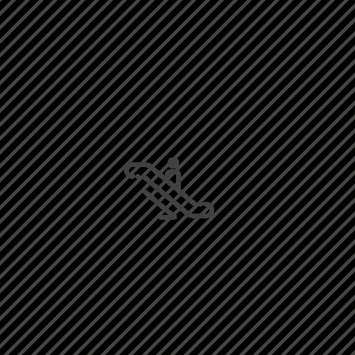 down, escalator icon