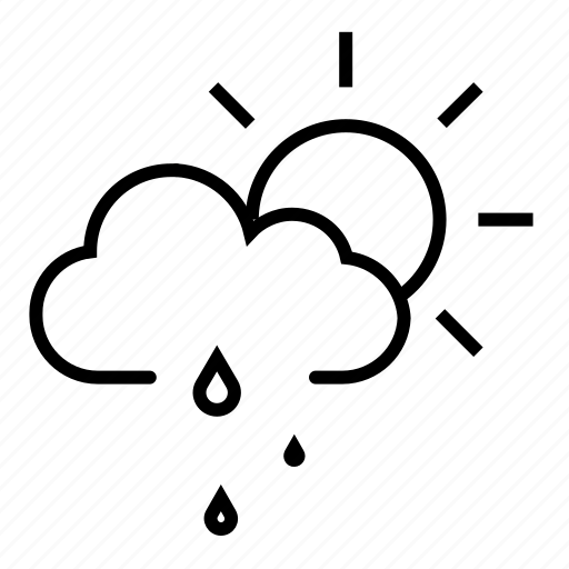 Cloudy, light rain, rain drops, raining, straight rain icon - Download on Iconfinder