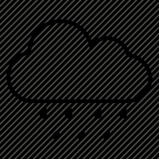 heavy rain, raining, slanting rain, weather forecast icon