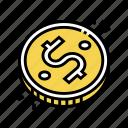 coin, golden, capital, financial, income, investor