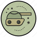 army, cannon, gun, military, tank, weapon icon