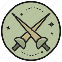 army, gun, military, sword, war, weapon icon