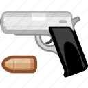 arm, armament, arms, firearm, handgun, weapon, weaponry icon