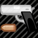 arm, armament, arms, firearm, handgun, weapon, weaponry icon