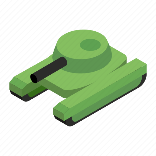 army, gun, isometric, military, tank, transportation, war icon