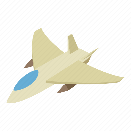 Airplane, fighter, isometric, jet, military, plane, stylized icon - Download on Iconfinder