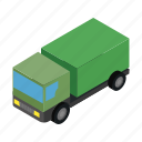 army, auto, automobile, cargo, isometric, military, truck icon