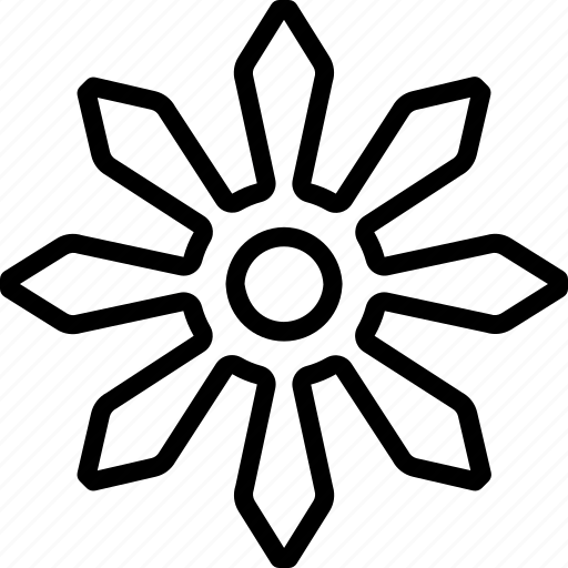 outline, shuriken, weapon, weaponry icon