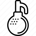 explosive, grenade, outline, weapon, weaponry icon