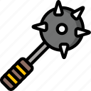 color, mace, ultra, weapon, weaponry icon