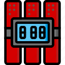bomb, color, explosive, explosives, timed, weapon, weaponry icon