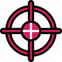 color, crosshair, ultra, weapon, weaponry icon