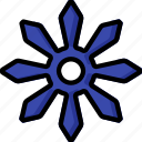 color, shuriken, ultra, weapon, weaponry icon