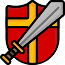 color, shield, sword, ultra, weapon, weaponry icon