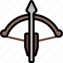 color, crossbow, ultra, weapon, weaponry icon